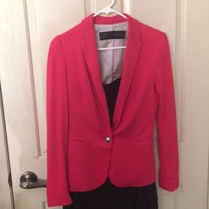 Zara Jackets & Coats - Zara hot pink blazer jacket